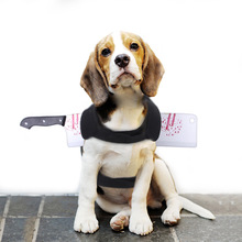 Dogs Clothing Costume Outfit Weapon Dress-Up Pet-Dog Scary Funny Cosplay Party Novelty