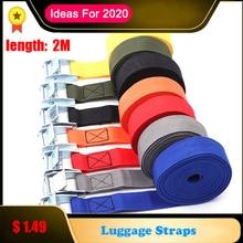 2M In Metallo Cinghie A Cricchetto Bagagli Fibbia Cargo Cinghie Tie Imbottiture Cintura per Cintura moto Cinghie di Corda Forte Auto accessori