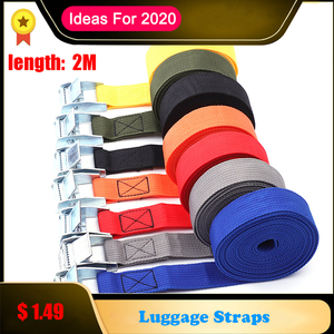 Image 1 - 2M Metal kilit kayışları bagaj toka kargo kayışları kravat aşağı kemer motosiklet kemer halat sapanlar güçlü otomatik aksesuarları