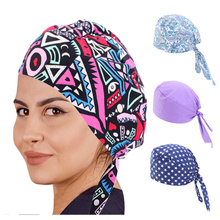 New Women summer Paisley durag Skull Cap Cotton Biker Motorcycle Bandana Head Wrap Headwear Ponytail Hat with Tie Hair Cover