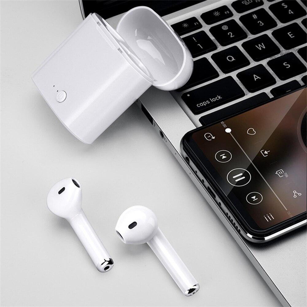 Mini auricular Bluetooth TWS i7, auriculares inalámbricos con micrófono, Auriculares deportivos Máquina de niebla LED-600, control inalámbrico, luz de escenario de Fiesta de DJ de 500W, selección de color RGB, discoteca, Fiesta en casa, máquina de humo