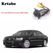 krtabo Car rear camera For Audi RS6 Plus Avant 2008~2009 car night vision reversing   camera CCD HD waterproof camera цены