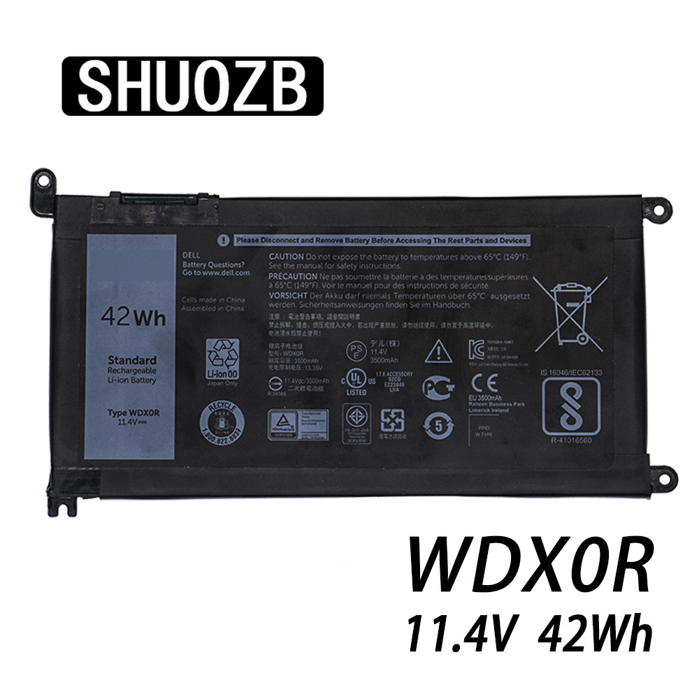 Laptop Battery WDX0R T2JX4 3CRH3 WDXOR For Dell Inspiron 13 5000 5368 5378 7368 14 7000 7560 7460 5567 15MF PRO-1508T FW8KR New