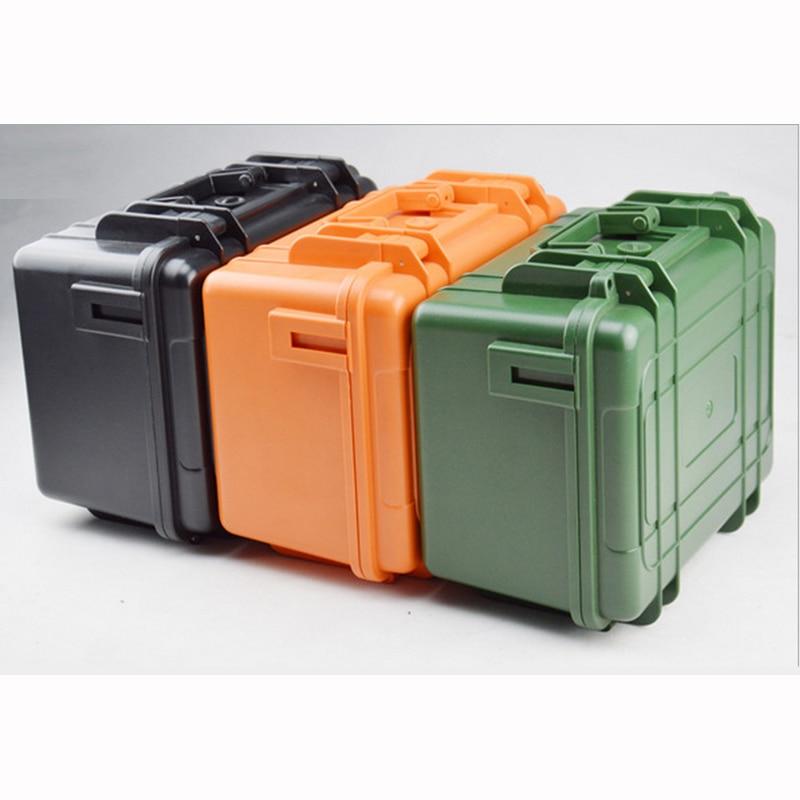 """""""ABS"""" įrankių dėžės įrankių dėžė. Atsparus smūgiams hermetiškas, neperšlampamas įrangos fotoaparatas su iš anksto supjaustytomis putplasčio dėžutėmis, nemokamas pristatymas. 280X230X155MM"""