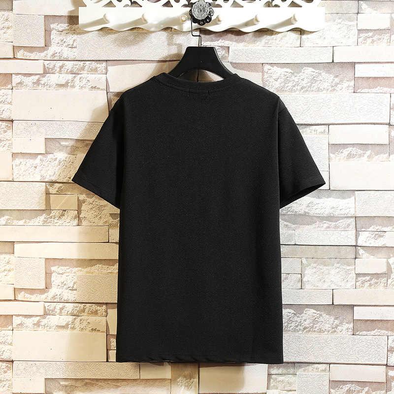 Kurzarm T Hemd Männer 2020 Sommer Hohe Qualität T-shirt Top Tees Klassische Marke Mode Kleidung Plus Größe M-5XL O NECK