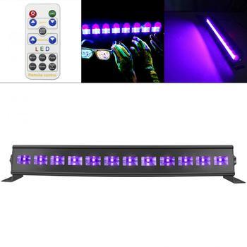 12LED 36 Вт Дистанционное управление УФ фиолетовые черные огни с голосовым управлением/самоходные/DMX 512 для рождественской вечеринки/бар/Насте...