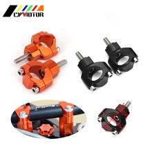 Grampo de montagem de guidão para motocicleta, braçadeira de montagem de barra gorda para guidão de 1/4