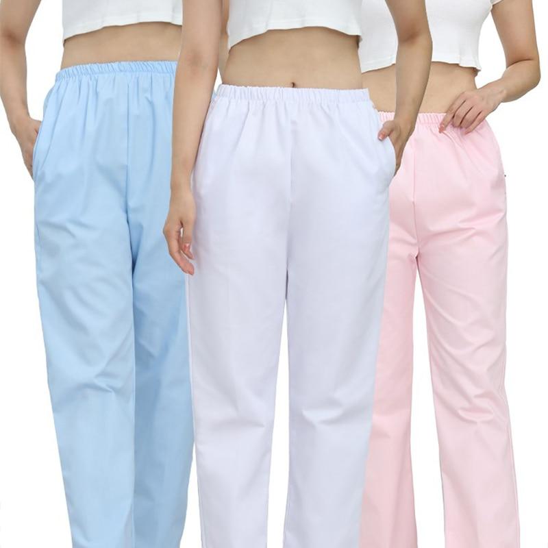 Work Wear Pants Medical Uniforms Elastic Waist Plus Nurse Uniform Gown Scrubs Women Costume Accessories Clothing For Nursing