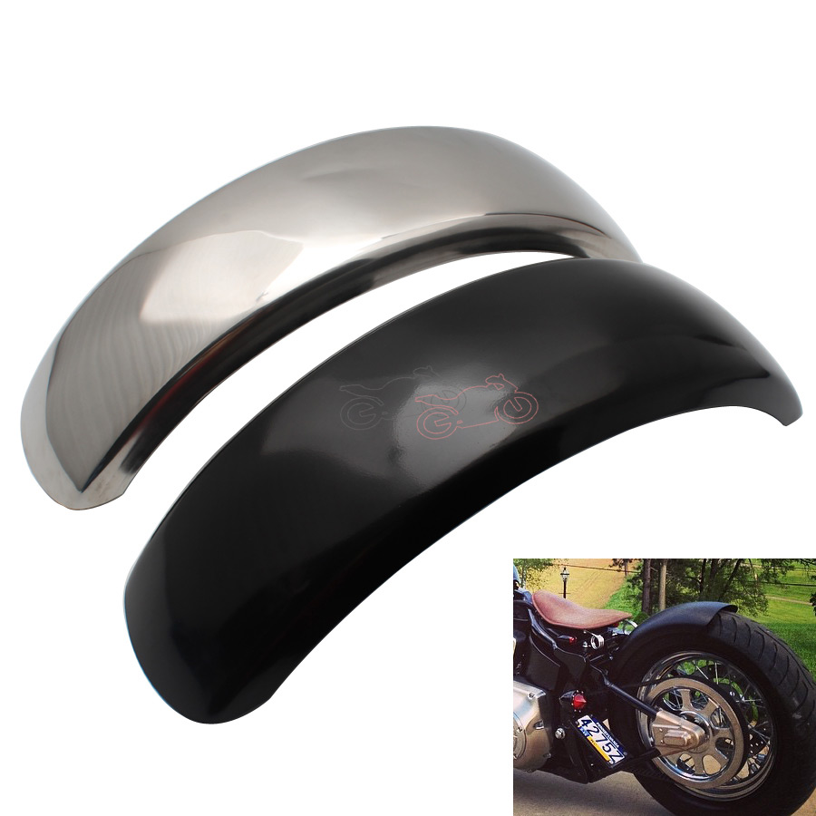15.6cm Flat Motorcycle Rear Fender Flares Trailer Mud Flaps Splash Guard Long For Harley Bobber Chopper VTX400 DS400 XVS400 600
