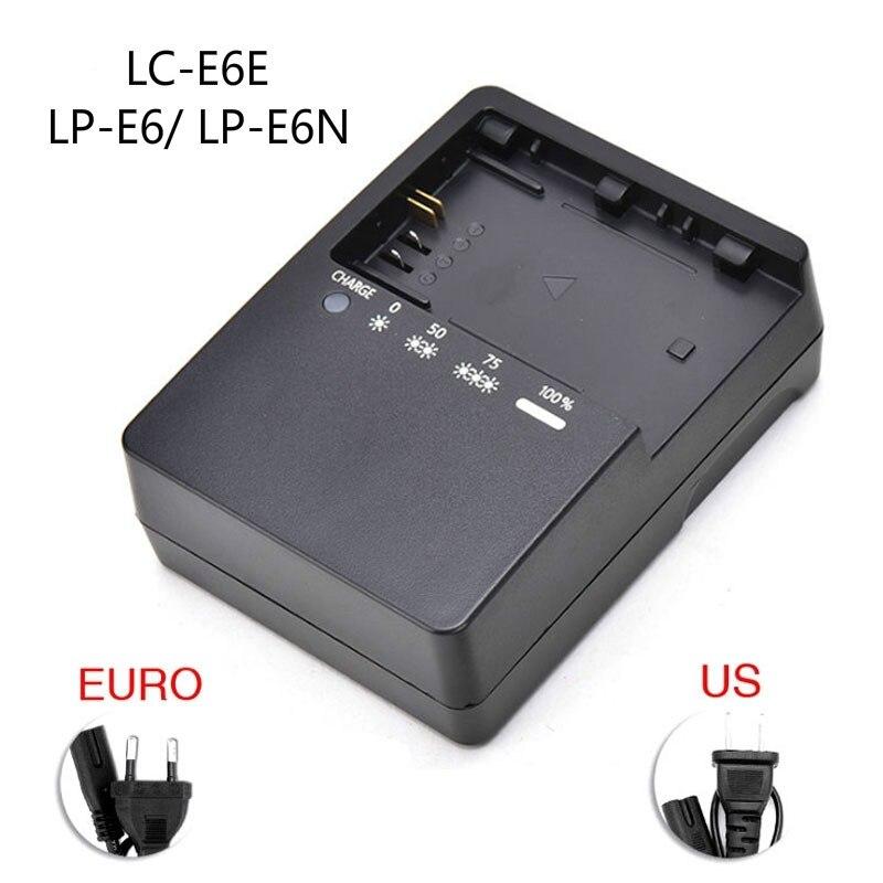 LC-E6E Камера Батарея Зарядное устройство для цифровой однообъективной зеркальной камеры Canon EOS 5dmark II III 5D2 5D3 7D 70D 6D 60D LP-E6 LP-E6N Lithunm Батарея Зарядн...