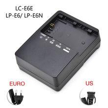 LC-E6E carregador de bateria da câmera para canon eos 5dmark ii iii 5d2 5d3 7d 70d 6d 60d LP-E6 LP-E6N lithunm carregador de bateria eua/ue plug
