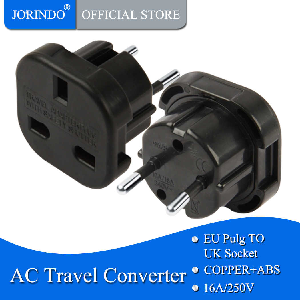 JORINDO EU TO UK, EU Plug Power Adapter อังกฤษ UK TO EU Euro Travel ADAPTER ไฟฟ้า Plug Converter Charger SOCKET Outlet
