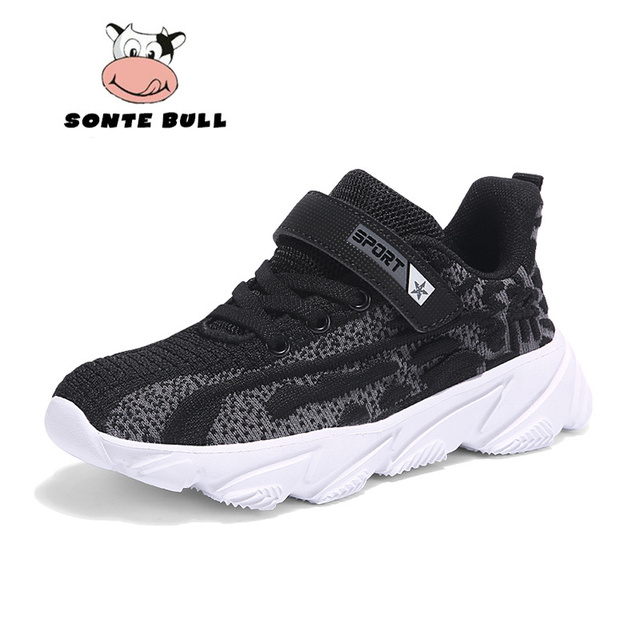 Breathable Soft Kids Sneakers Autumn Winter New Flying Weaving Boys Shoes Light Non slip Children Shoes Size 28 39
