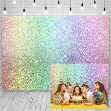 Avezano Birthday Party Backdrops For Photography Rainbow Sparkles Shiny Decor Boy Girl Backgrounds For Photo Studio Photophone