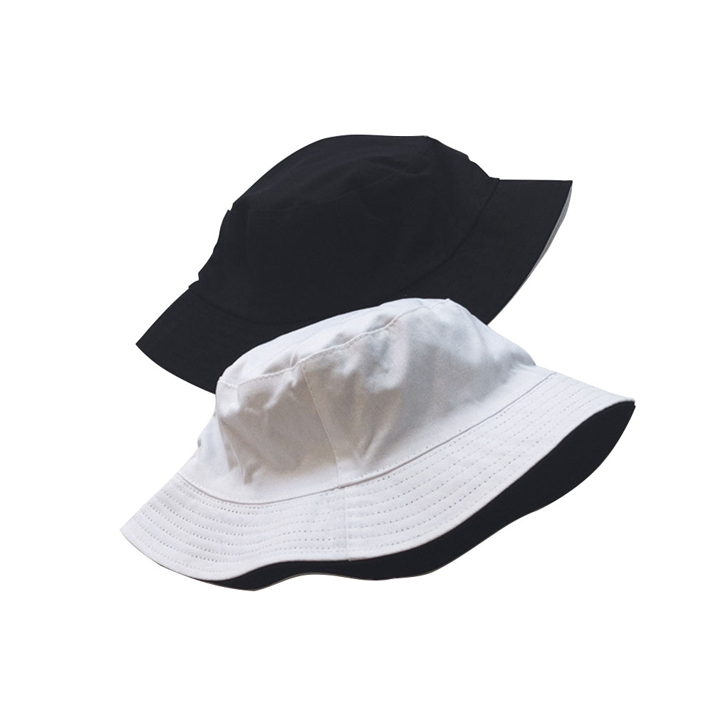 Kiayou Bucket Hat Washed Wide Brim Foldable Double Sided Fisherman Hat Sports Outdoor