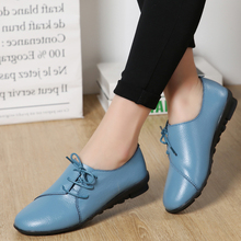 Fashion Women Flats Soft Leather Round Head Women Casual Flats Ladies Side Flat