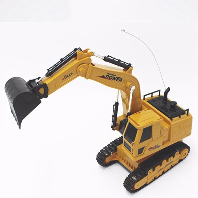 RC Excavator Simulation Engineering Tractor Car Toy 10CH Boy Remote Control Toy Child Christmas Gift RC Truck 3