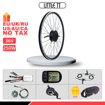 Electric Bike Conversion Kit 250W Front Wheel Motor 36V 250W ebike Kit motor with KT LCD LED Display Electric Bicycle