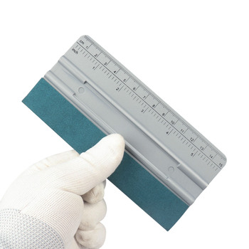 FOSHIO Vinyl Wrap Car Scale Suede Felt Squeegee Scraper Vehicle Accessories Window Tint Film Install Tool Auto Wrapping