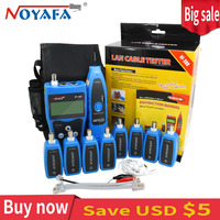 Noyafa NF388 Professional BNC USB RJ45 RJ11 Tester LCD Lan Tester Multi Functional Network cable tester Wire Tracker Tool Kit