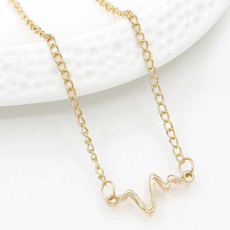 حار جديد موضة بسيطة شخصية موجة ECG البرق سوار زوجين نبضات القلب تردد سوار مجوهرات