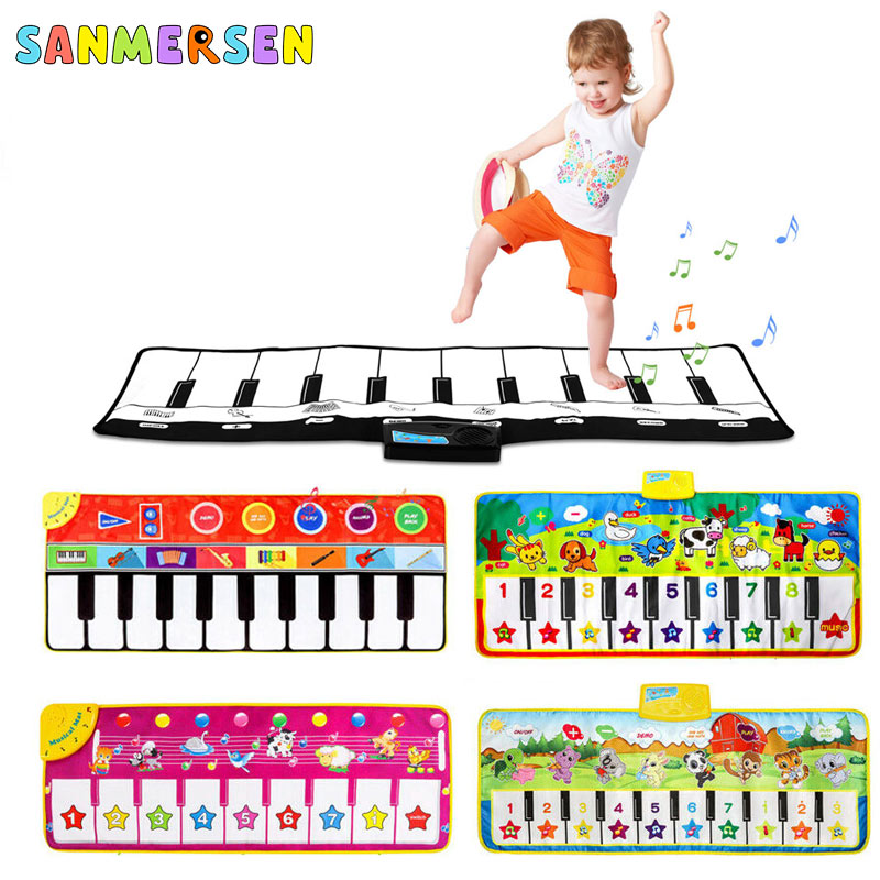 Baby Music Piano Blanket Musical Play Mats Children's Early Education Touch Crawling Animal Sings Carpet Toys For Children Kids