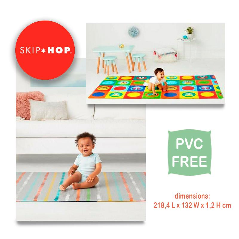 Skiphop Doubleplay Reversible Foldable Cartoon Baby Play Mat Kids Activitty Play Mat Waterproof Wipes Clean PVC Free- Zoo