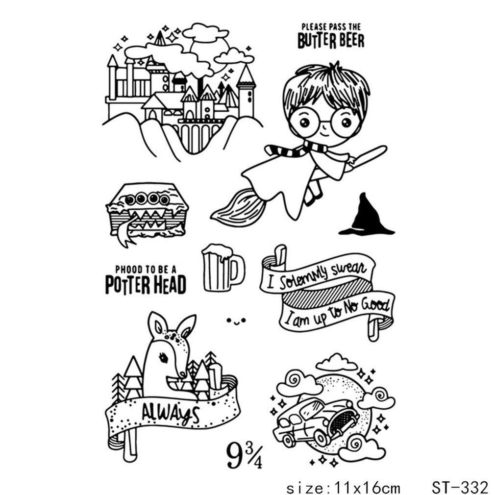 Clear /& Harry Potter itchoate Hand Account Icon Transparent Clear Silicone Stamp//Seal for DIY Scrapbooking//Photo Album Decorative Clear Stamp Sheets