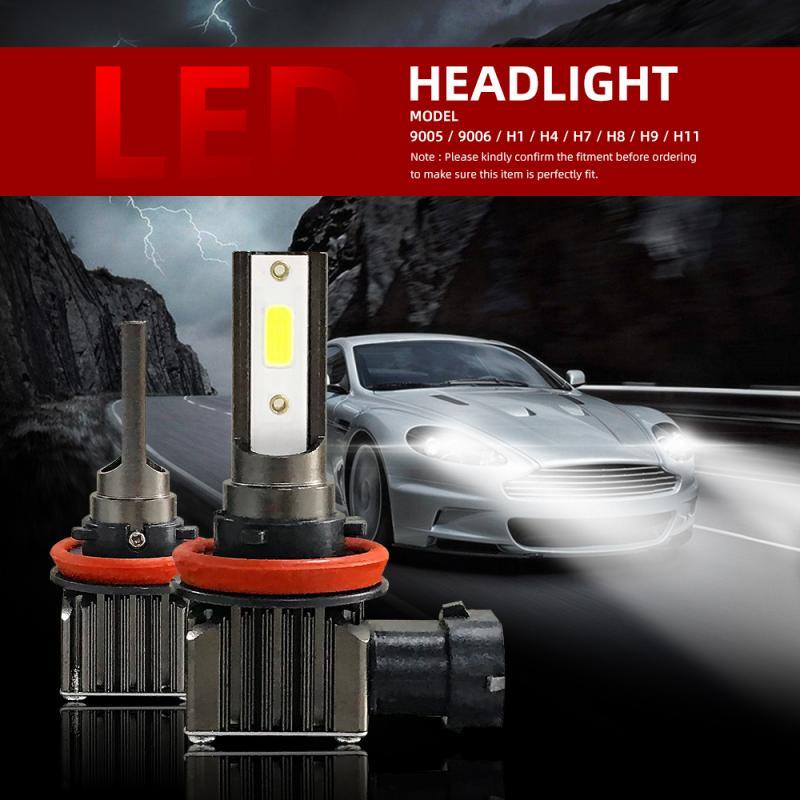 2PCS 60W 12000LM Car LED Headlight H4 H7 H8/9/11 9005 9006 Auto Lamp 6500 K Headlamp Automobile Lights Bulbs h7 led Lamp