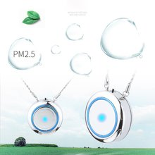 Personal Air Purifier Necklace Usb Portable Air Purifier Wearable Mini Negative Ion Air Freshener No Radiation Low Noise