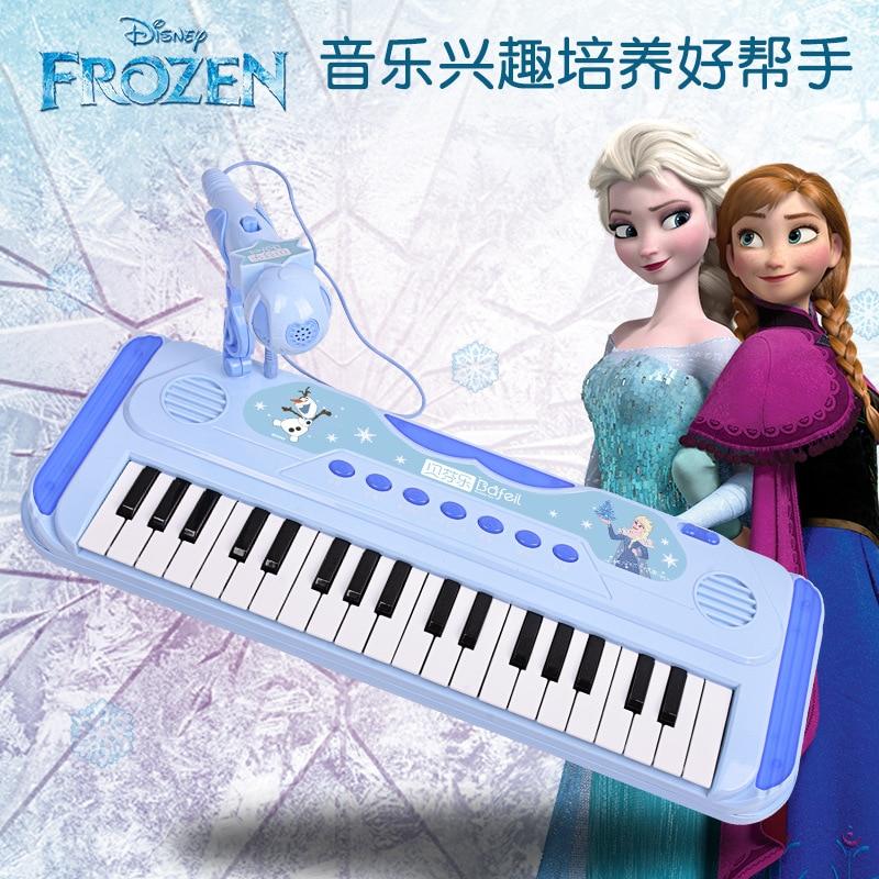 Disney Girls Frozen Princess  37 Type Door Keyboard Piano Toy Singing Music Playing Piano Girl Toy Educational Toy Baby Piano