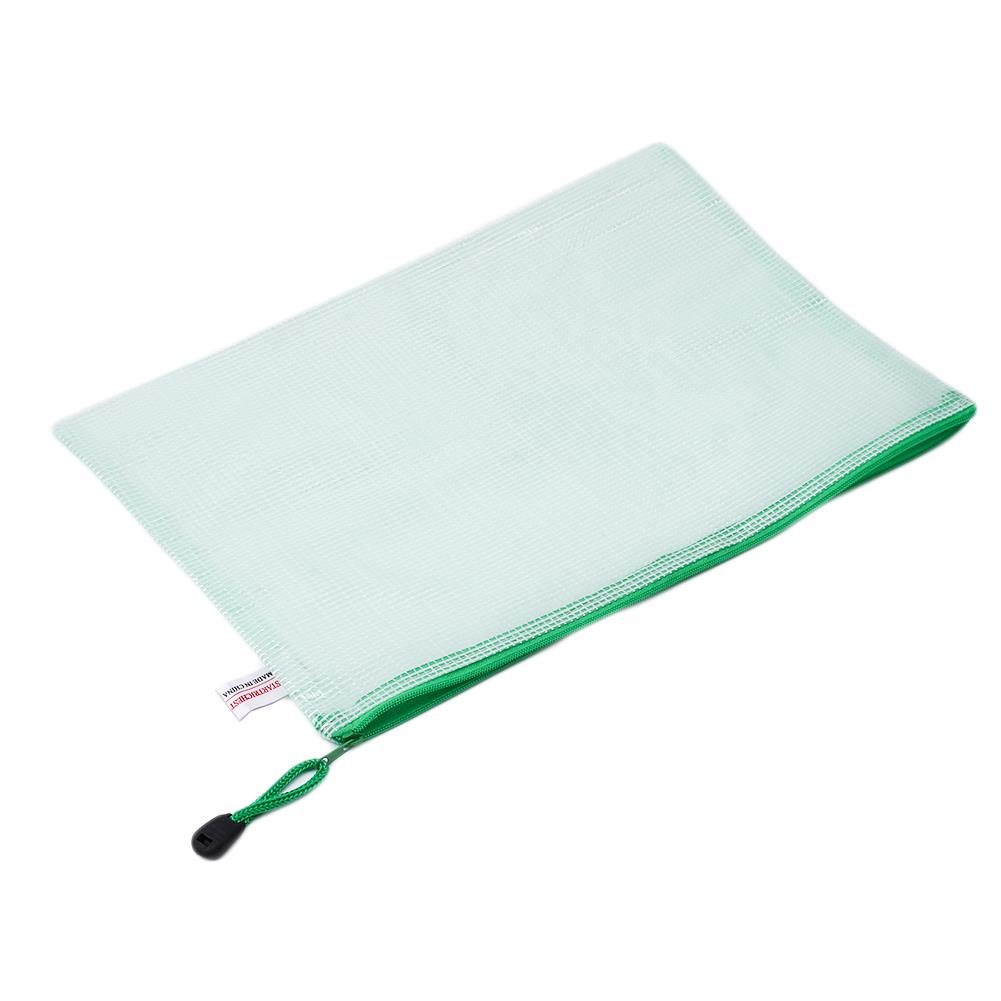 Office Stationery Paperbag£¬Document Folder School Supplies Zipper Bag Student Stationery Bags File Grid Stationery