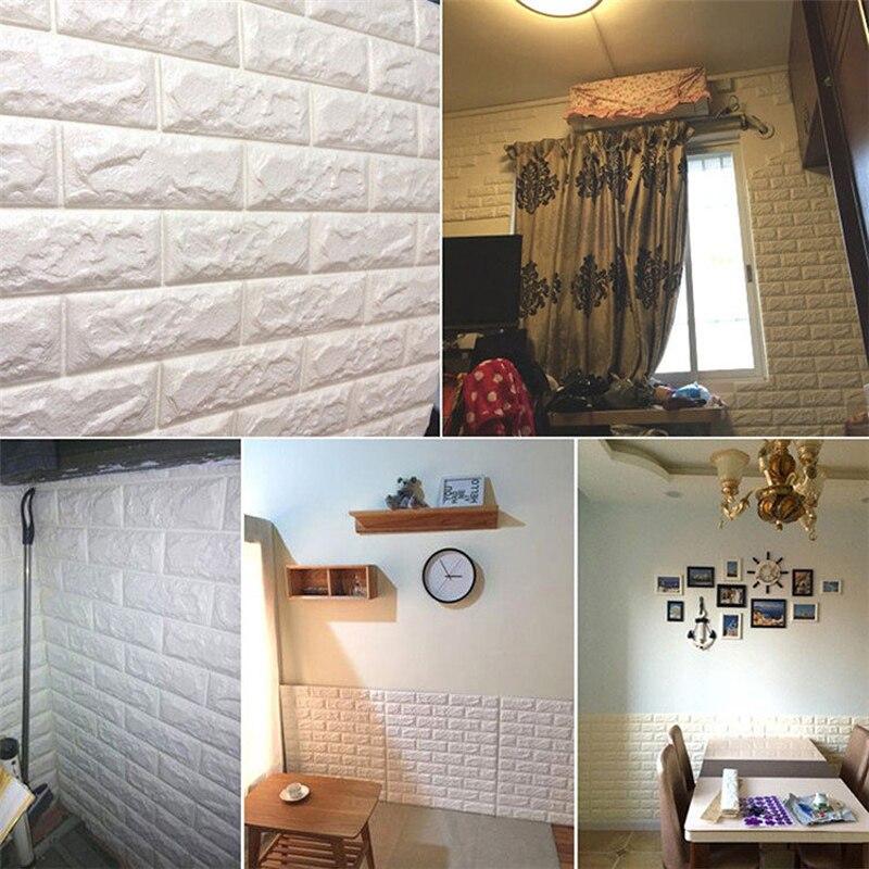 77x70 см 3D наклейки на кирпичные стены самоклеющиеся наклейки на панели самоклеющиеся кирпичные узоры мягкая упаковка фон украшение для гостиной