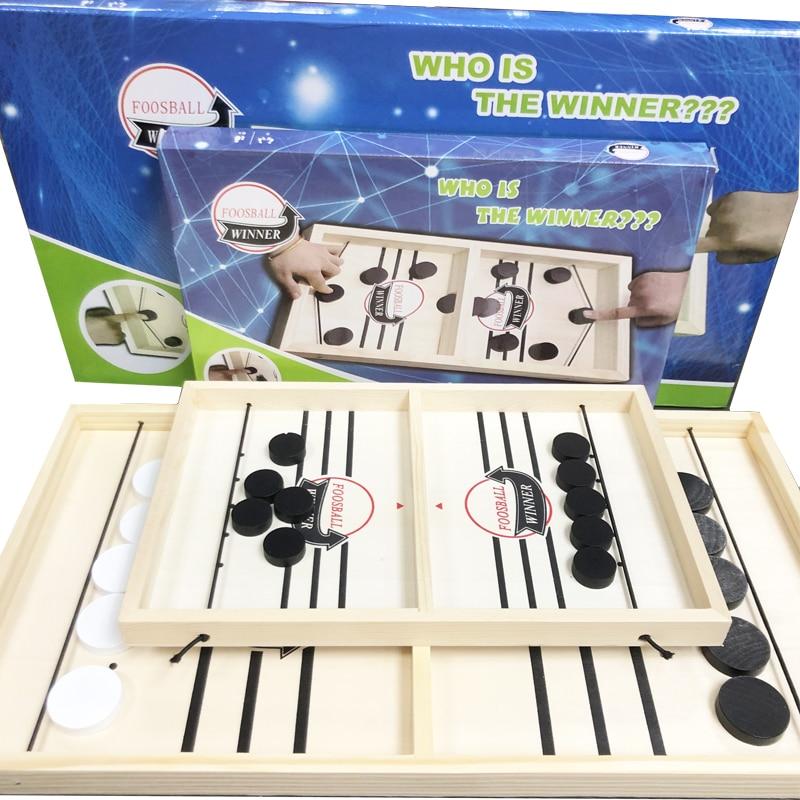 Hockey rapide fronde Puck jeu Table jeux de société trépidant fronde palet gagnant amusant jouets en bois jeu de fête jouets pour adulte enfant famille