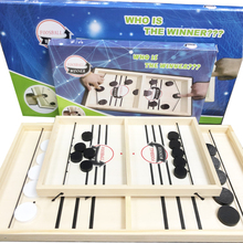 Fast Hockey Sling Puck Game Table Board Games Paced Sling Puck Winner Fun Wooden Toys Party Game Toys For Adult Child Family