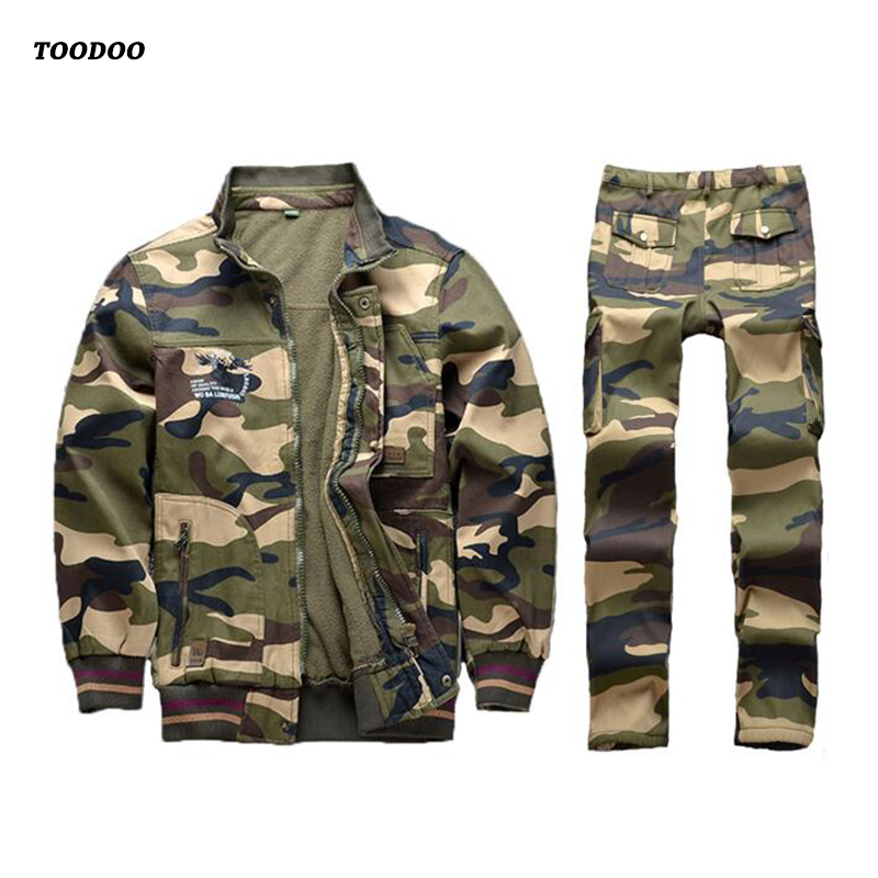 Thick Camouflage Working Clothing Men Women Uniform Long Sleeve Protective Overalls For Worker Wear Repairman Clothing