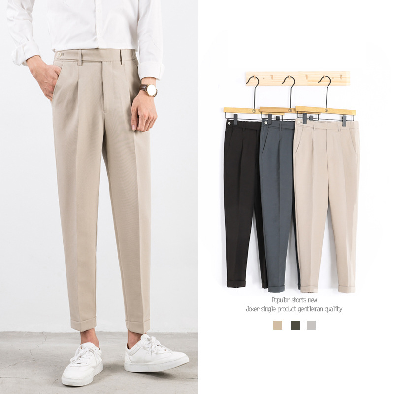 Zogaa 2019 New Fashion Spring Autumn Korean Style Trousers Mens Slim Straight Pants Version Cotton Casual Suit