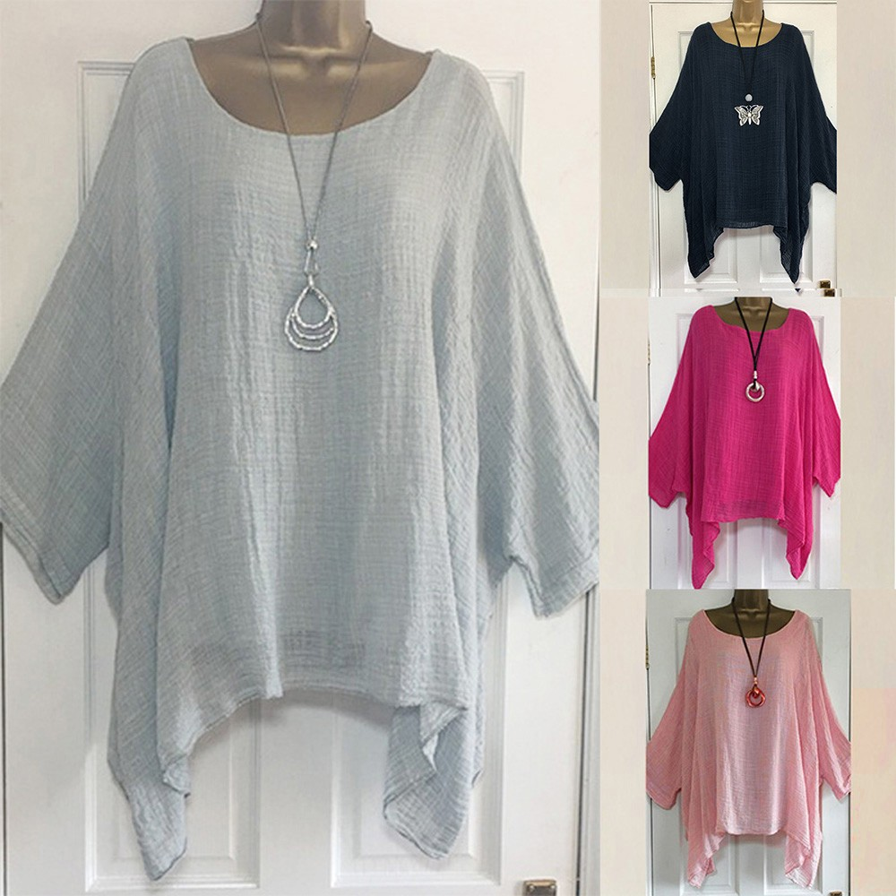 Einfarbig Frauen T-Shirt Damen Casual Harajuku Plus Größe Lose Baumwolle Leinen T-shirt Weibliche Tops Shirt Kleidung Dropshipping