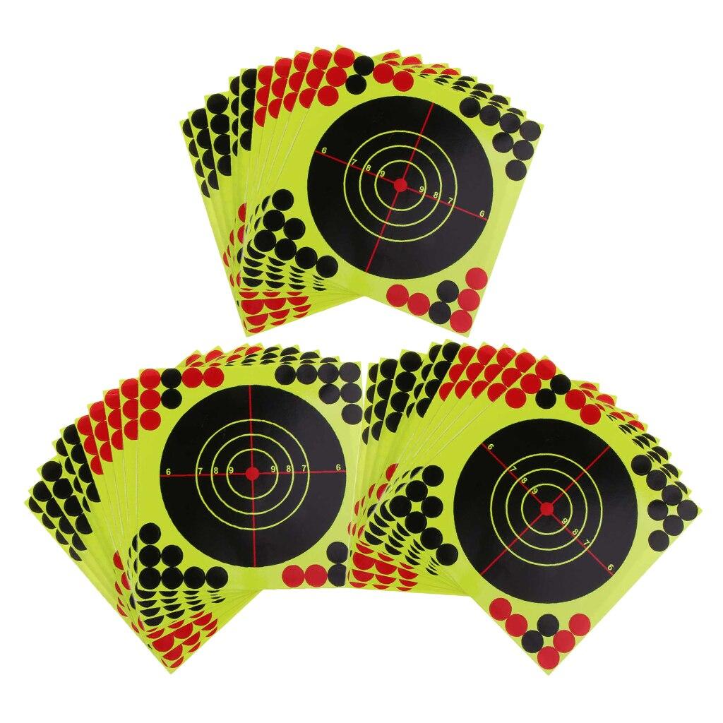 30pcs Shooting Targets Reactive Splatter Adhesive Paper Target 21x21cm