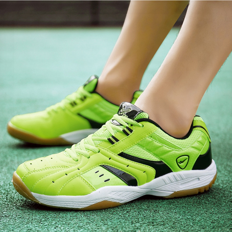 Unisexe Badminton chaussures vert blanc hommes femmes Gym Sport baskets professionnel Couples Badminton baskets course chaussures 36-45