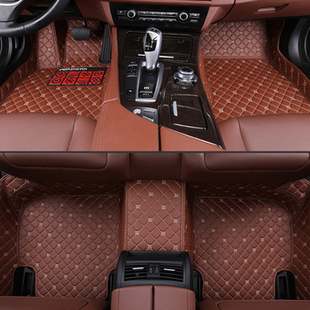Car Floor Mats For Volvo XC90 2015 2016 2017 2018 2019 Leather Mats Auto Carpet Cover Protection Accessorie