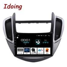 """Idoing 9 """"2.5d ips carro android rádio multimídia player para chevrolet trax 2014 2016 4g + 64g octa núcleo gps navegação não 2 din"""