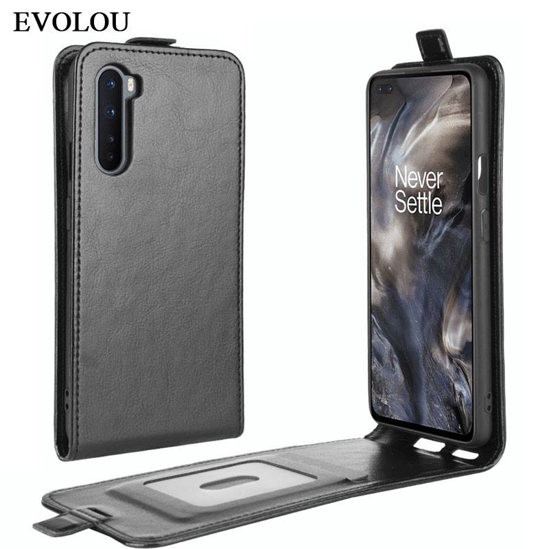 for Oneplus Nord Case vertical FlIp Leather Phone Cover for One plus Nord 5G 1+Nord Soft Silicone + Leather Phone Bag Cases