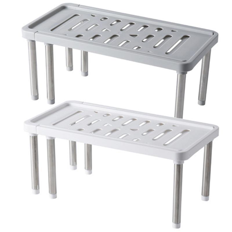 Stainless Steel Storage Shelf Shoe Rack Cabinet Holders Kitchen Closet Organizer Easy To Install DIY Home Furniture Space Saving