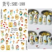 10 pçs ela dragão arte do prego etiqueta do decalque do prego projetos dragão chinês sol flor bordo prego adesivos de impressão do prego decoração do prego