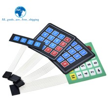 TZT New 4 12 16 20 Key 4*4 Membrane Switch Keypad 1x4 3x4 4x4 4*5 Matrix Array Matrix keyboard for arduino smart car(China)