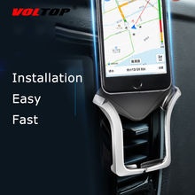 VOLTOP Automatic Clip U Type Phone Holder Car Accessories Air Outlet Universal Mobile Phone Navigation Support Stand Supplies