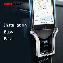 VOLTOP Clip automático U tipo soporte de teléfono accesorios de coche salida de aire Universal teléfono móvil navegación soporte suministros