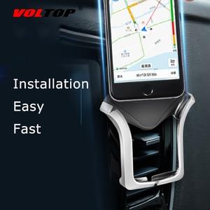 Image 1 - VOLTOP Clip automático U tipo soporte de teléfono accesorios de coche salida de aire Universal teléfono móvil navegación soporte suministros