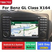 цена на Android Car GPS Navigation For Mercedes Benz GL Class X164 2007-2012 Car dvd player BT RDS Mlutimedia player Navi 2Din WiFi